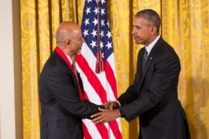 Abraham Verghese with president Obama
